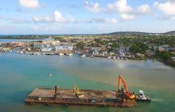 Λιμάνι και προκυμαία Αγίου John ` s - Αντίγκουα και Μπαρμπούντα Στοκ εικόνα με δικαίωμα ελεύθερης χρήσης