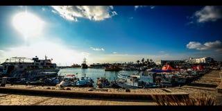 Λιμάνι Κύπρος μαρινών (4k) απόθεμα βίντεο