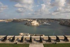 Λιμάνι Μάλτα Valleta Στοκ φωτογραφίες με δικαίωμα ελεύθερης χρήσης
