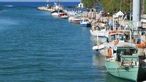 Λιμάνι με τα σκάφη φιλμ μικρού μήκους