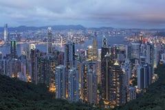 Λιμάνι νησιών και Βικτώριας της Hong Knog όπως αντιμετωπίζεται από την αιχμή στοκ εικόνα με δικαίωμα ελεύθερης χρήσης