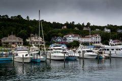 Λιμάνι νησιών Mackinac το καλοκαίρι στοκ φωτογραφία με δικαίωμα ελεύθερης χρήσης