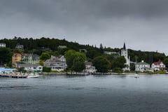 Λιμάνι νησιών Mackinac το καλοκαίρι στοκ φωτογραφία