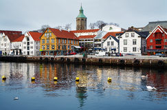 λιμάνι Νορβηγία Stavanger φιλοξεν Στοκ Εικόνα
