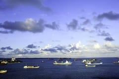 λιμάνι Παναμάς άνω και κάτω τ&eps Στοκ Εικόνες