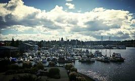 Λιμάνι πρόσφατου καλοκαιριού Στοκ Εικόνα