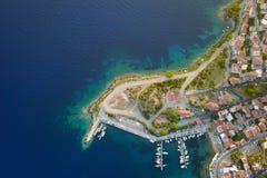 Λιμάνι πόλεων Στοκ εικόνα με δικαίωμα ελεύθερης χρήσης