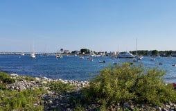 Λιμάνι σίκαλης - λίβρα αστακών και ρολόι φαλαινών στοκ φωτογραφία