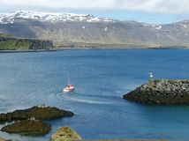 Λιμάνι σε Arnarstapi, Ισλανδία Στοκ εικόνες με δικαίωμα ελεύθερης χρήσης