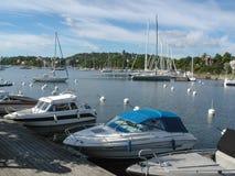 Λιμάνι σε Nacka, Στοκχόλμη στοκ φωτογραφία