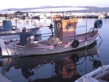 Λιμάνι σε Skala Kalloni στο νησί της Λέσβου Ελλάδα στοκ εικόνες με δικαίωμα ελεύθερης χρήσης