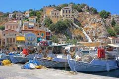 Λιμάνι σε Symi, Ελλάδα Στοκ Φωτογραφία