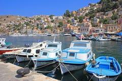 Λιμάνι σε Symi, Ελλάδα Στοκ Εικόνες
