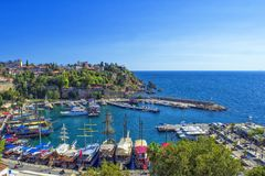 Λιμάνι στην παλαιά πόλη Kaleici - Antalya, Τουρκία Στοκ Εικόνες