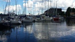 Λιμάνι στη βροχή στοκ εικόνα