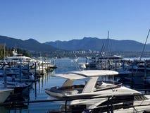 Λιμάνι στον κολπίσκο Burrard στο Βανκούβερ, Καναδάς Στοκ Εικόνες