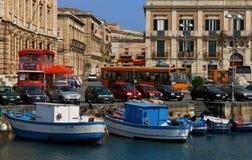 λιμάνι Συρακούσες στοκ εικόνες