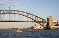 λιμάνι Σύδνεϋ γεφυρών στοκ εικόνα