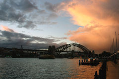λιμάνι Σύδνεϋ γεφυρών στοκ φωτογραφίες με δικαίωμα ελεύθερης χρήσης