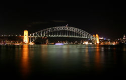 λιμάνι Σύδνεϋ γεφυρών Στοκ Φωτογραφία