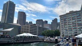 Λιμάνι της Βοστώνης σε ένα φωτεινό θερινό απόγευμα στοκ εικόνες