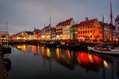 λιμάνι της Κοπεγχάγης nyhavn στοκ φωτογραφία
