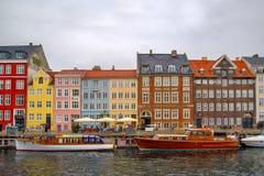 Λιμάνι της Κοπεγχάγης Nyhavn Στοκ Φωτογραφίες