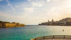 Λιμάνι της Μάλτας το πρωί Στοκ εικόνα με δικαίωμα ελεύθερης χρήσης
