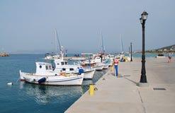 Λιμάνι της Μήλου, νησί Agistri Στοκ φωτογραφία με δικαίωμα ελεύθερης χρήσης