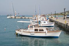 Λιμάνι της Μήλου, Agistri Στοκ φωτογραφία με δικαίωμα ελεύθερης χρήσης