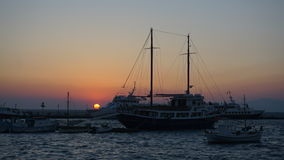 Λιμάνι της Μυκόνου, νησί της Μυκόνου, Ελλάδα Στοκ Εικόνα