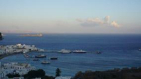 Λιμάνι της Μυκόνου, νησί της Μυκόνου, Ελλάδα Στοκ Φωτογραφίες