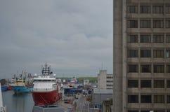 Λιμάνι του Αμπερντήν - της Σκωτίας, κύρια πύλη για το πετρέλαιο Βόρεια Θαλασσών και ανοικτής θαλάσσης βιομηχανία φυσικού αερίου Στοκ Φωτογραφίες