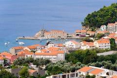 Λιμάνι του Μαυροβουνίου Petrovac Στοκ Εικόνες
