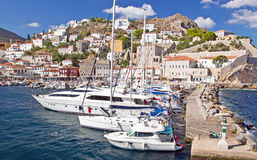 Λιμάνι του νησιού Hydra. Στοκ φωτογραφία με δικαίωμα ελεύθερης χρήσης