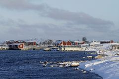 Λιμάνι του νησιού Jurmo στη Φινλανδία το χειμώνα στοκ εικόνες με δικαίωμα ελεύθερης χρήσης