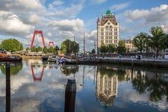 Λιμάνι του Ρότερνταμ Oude Στοκ Φωτογραφίες