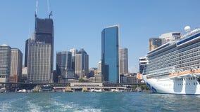 Λιμάνι του Σίδνεϊ, κυκλική αποβάθρα, όπου όλη η ωκεάνια γέννηση σκαφών της γραμμής για τους επιβιβαμένος επιβάτες, Σίδνεϊ, NSW, Α στοκ εικόνες με δικαίωμα ελεύθερης χρήσης
