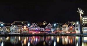 Λιμάνι του Stavanger από το nigth Στοκ Εικόνες