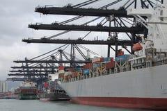 Λιμάνι φορτίου Χονγκ Κονγκ στοκ φωτογραφία