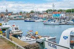 Λιμάνι Anstruther ένα θερινό απόγευμα, Fife, Σκωτία Στοκ εικόνα με δικαίωμα ελεύθερης χρήσης
