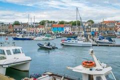 Λιμάνι Anstruther ένα θερινό απόγευμα, Fife, Σκωτία Στοκ Εικόνες