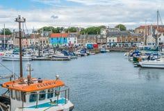 Λιμάνι Anstruther ένα θερινό απόγευμα, Fife, Σκωτία Στοκ φωτογραφία με δικαίωμα ελεύθερης χρήσης