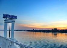 Λιμάνι Antwerpen Στοκ φωτογραφίες με δικαίωμα ελεύθερης χρήσης