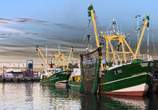Λιμάνι Hanstholm αλιευτικών πλοιαρίων, Δανία Στοκ Φωτογραφίες