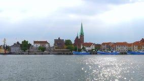 Λιμάνι Helsingoer, Δανία, Ευρώπη απόθεμα βίντεο
