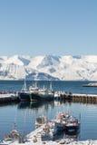 Λιμάνι Husavik στοκ φωτογραφίες