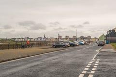 Λιμάνι Irvine στο Ayrshire Σκωτία που κοιτάζει μέσα προς το πόλης κέντρο στοκ φωτογραφία με δικαίωμα ελεύθερης χρήσης