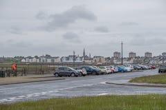 Λιμάνι Irvine στο Ayrshire Σκωτία που κοιτάζει μέσα προς το πόλης κέντρο στοκ εικόνες