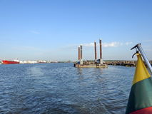 Λιμάνι Klaipeda, Λιθουανία Στοκ Εικόνα